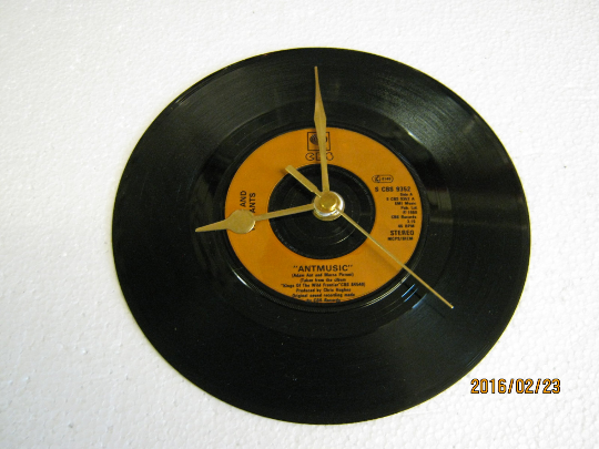 "Adam And The Ants - ""Antmusic"" Record Wall Clock"