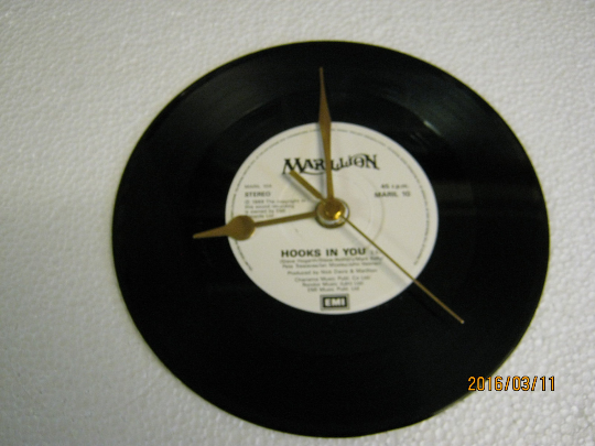 "Marillion - ""Hooks In You"" Record Wall Clock"