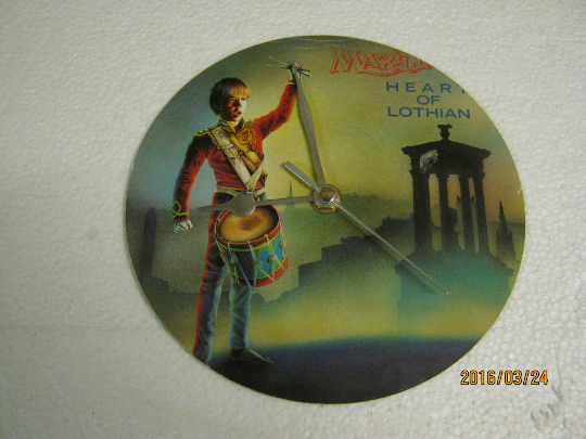 "Marillion - ""Heart Of Lothian"" Record Sleeve Wall Clock"