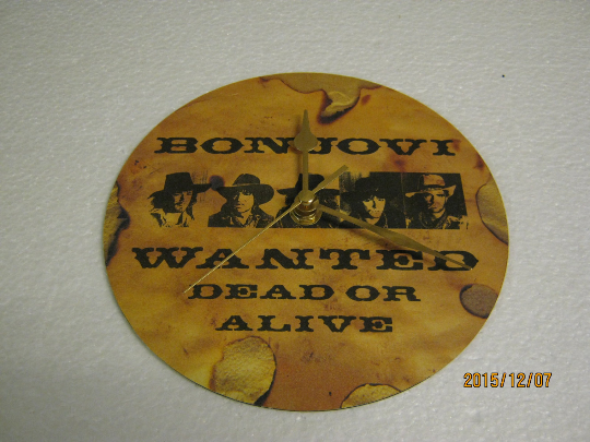 "Bon Jovi - ""Wanted Dead Or Alive"" Record Sleeve Wall Clock"