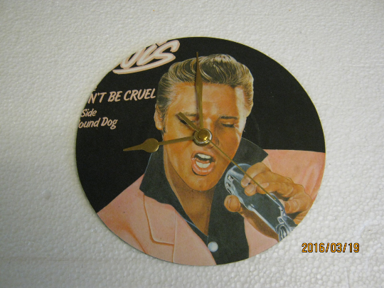 "Elvis Presley - ""Don't Be Cruel (To A Heart That's True)"" Record Sleeve Clock"