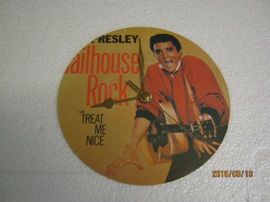 "Elvis Presley - ""Jailhouse Rock"" Record Sleeve Wall Clock"