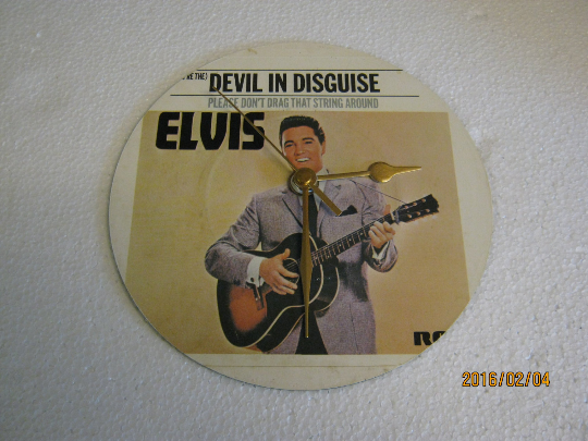 "Elvis Presley - ""(You're The) Devil In Disguise"" Record Sleeve Wall Clock"