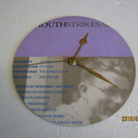 "The Smiths - ""Bigmouth Strikes Again"" Record Sleeve Wall Clock"