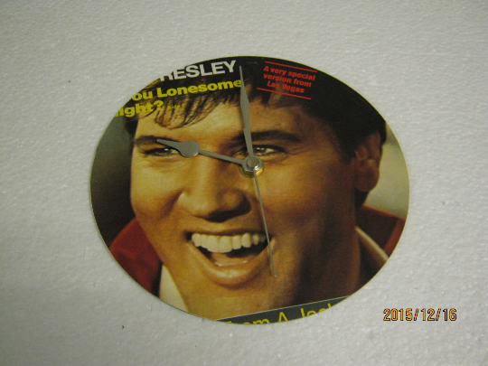 "Elvis Presley - ""Are You Lonesome Tonight?"" Record Sleeve Wall Clock"