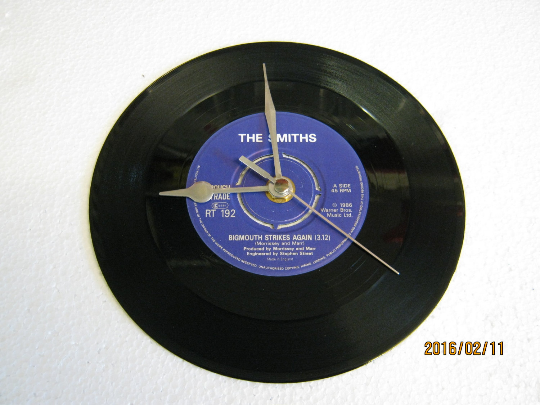 "The Smiths - ""Bigmouth Strikes Again"" Record Wall Clock"