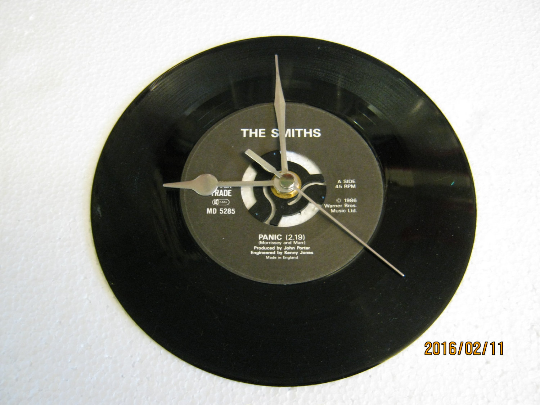 "The Smiths - ""Panic"" Record Wall Clock"