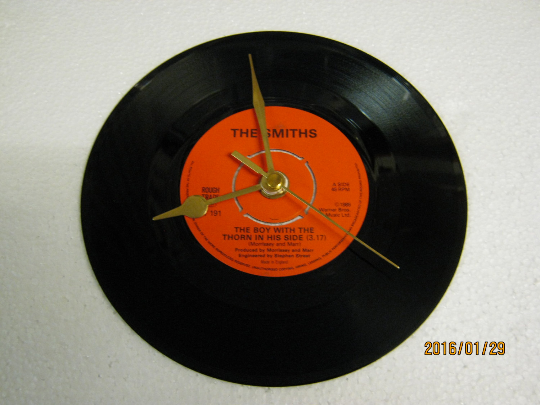 "The Smiths - ""The Boy With The Thorn In His Side"" Record Wall Clock"