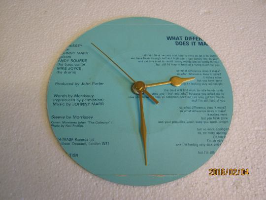 "The Smiths - ""What Difference Does It Make?"" Record Sleeve Wall Clock"