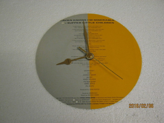 "The Smiths - ""Heaven Knows I'm Miserable Now"" Record Sleeve Wall Clock"