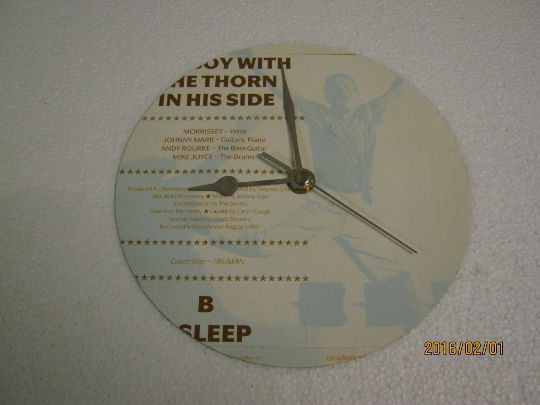 "The Smiths - ""The Boy With The Thorn In His Side"" Record Sleeve Wall Clock"