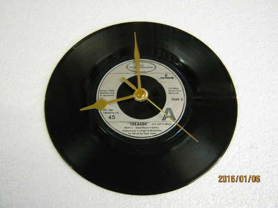 "The Teardrop Explodes - ""Treason (It's Just A Story)"" Record Wall Clock"