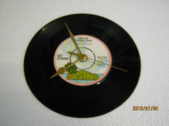 "Cat Stevens - ""Another Saturday Night"" Record Wall Clock"