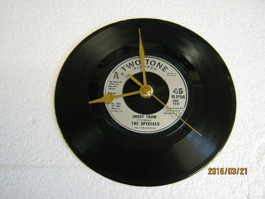 "The Specials - ""Ghost Town"" Record Wall Clock"