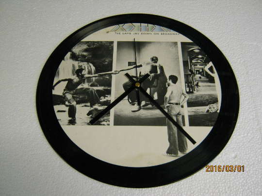 "Genesis - ""The Lamb Lies Down On Broadway"" Record Sleeve Wall Clock"