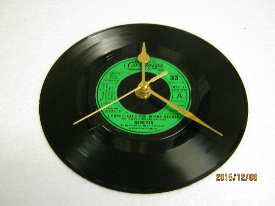 "Genesis - ""Paperlate"" Record Wall Clock"