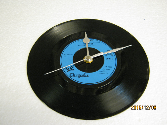 "Go West - ""Call Me"" Record Wall Clock"