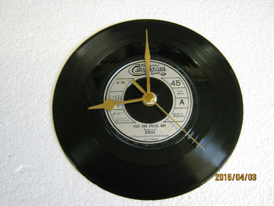 "Genesis - ""Your Own Special Way"" Record Wall Clock"