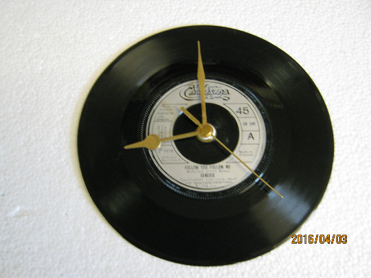 "Genesis - ""Follow You Follow Me"" Record Wall Clock"