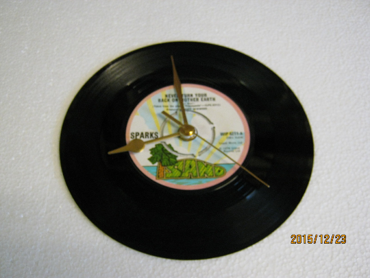 "Sparks - ""Never Turn Your Back On Mother Earth"" Record Wall Clock"