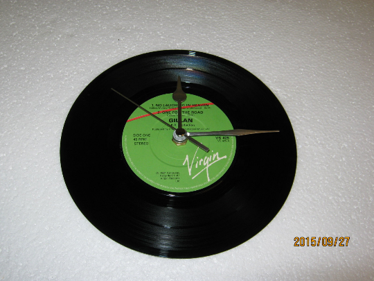 "Gillan - ""No Laughing In Heaven"" Record Wall Clock"