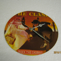 "The Clash - ""Rock The Casbah"" Record Sleeve Wall Clock"
