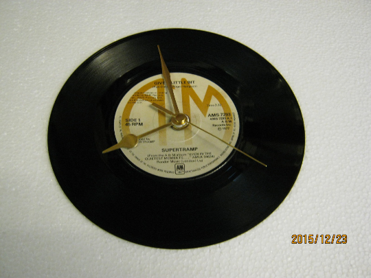 "Supertramp - ""Give A Little Bit"" Record Wall Clock"