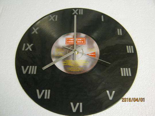 "The Clash - ""Combat Rock"" CD & Record Wall Clock"