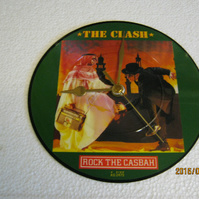 "The Clash - ""Rock The Casbah"" Picture Disc Record Wall Clock"