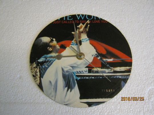 "Stevie Wonder - ""I Just Called To Say I Love You"" Record Sleeve Wall Clock"