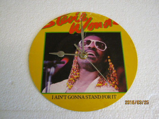 "Stevie Wonder - ""I Ain't Gonna Stand For It"" Record Sleeve Wall Clock"