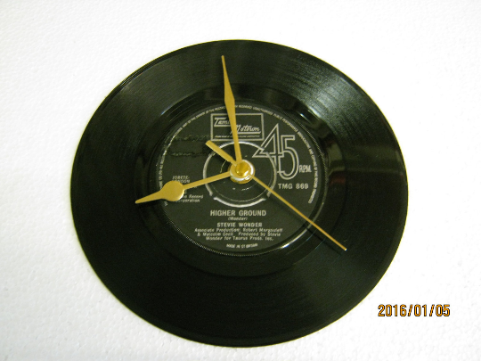 "Stevie Wonder - ""Higher Ground"" Record Wall Clock"