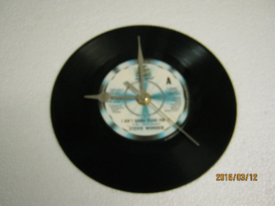 "Stevie Wonder - ""I Ain't Gonna Stand For It"" Record Wall Clock"