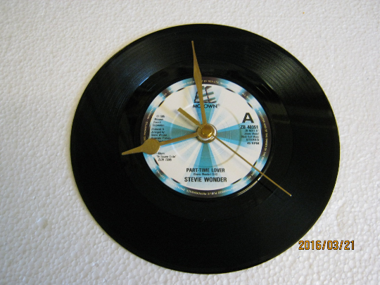 "Stevie Wonder - ""Part-Time Lover"" Record Wall Clock"