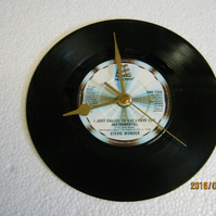"Stevie Wonder - ""I Just Called To Say I Love You"" Record Wall Clock"
