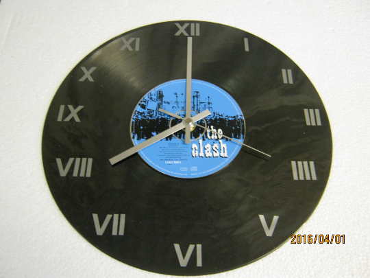 "The Clash - ""Super Black Market Clash"" CD & Record Wall Clock"