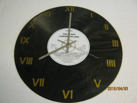 "The Clash - ""London Calling"" CD & Record Wall Clock"