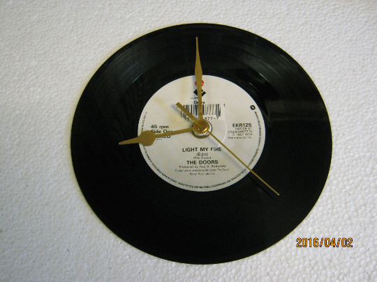 "The Doors - ""Light My Fire"" Record Wall Clock"