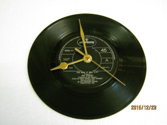 "Rod Stewart - ""You Wear It Well"" Record Wall Clock"