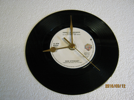 "Rod Stewart - ""Sweet Surrender"" Record Wall Clock"
