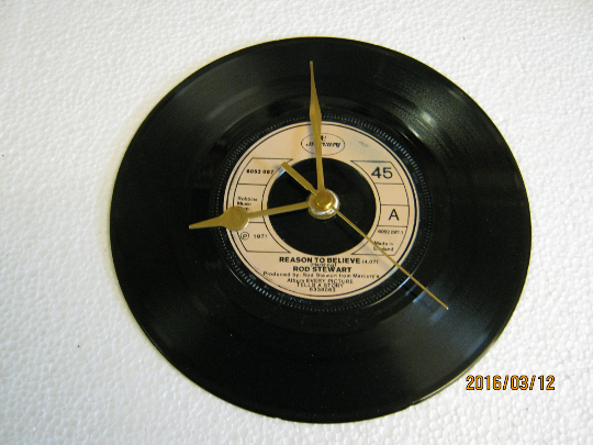 "Rod Stewart - ""Reason To Believe"" Record Wall Clock"