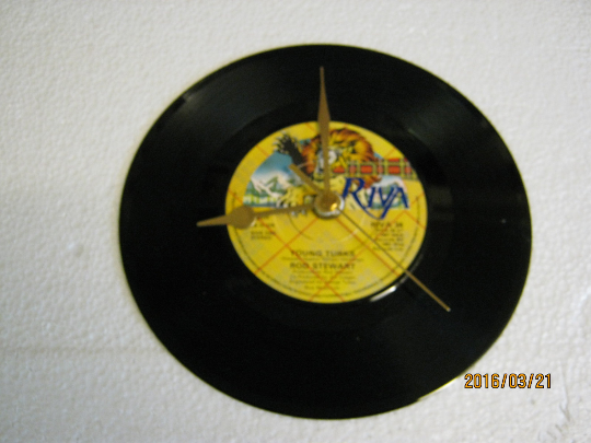 "Rod Stewart - ""Young Turks"" Record Wall Clock"