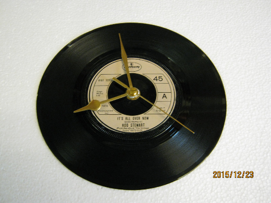"Rod Stewart - ""It's All Over Now"" Record Wall Clock"