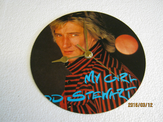 "Rod Stewart - ""My Girl"" Record Sleeve Wall Clock"