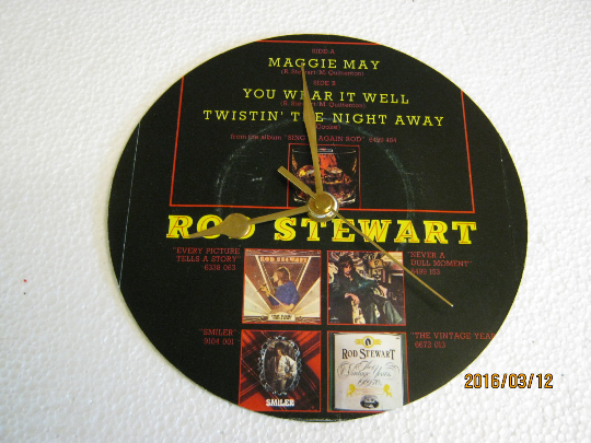 "Rod Stewart - ""Maggie May"" Record Sleeve Wall Clock"