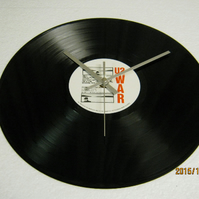 "U2 - ""War"" Vinyl Record Wall Clock"