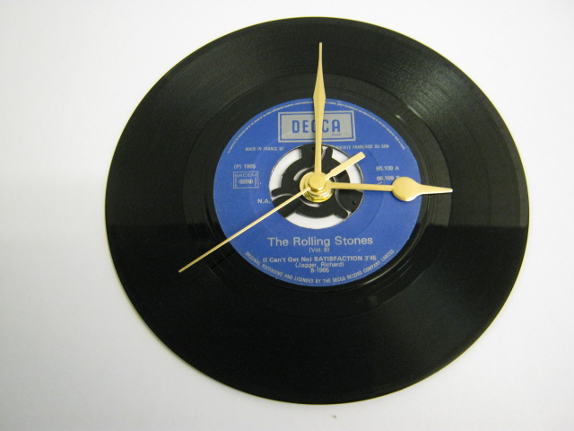 "The Rolling Stones - ""(I Can't Get No) Satisfaction""  Vinyl Record Wall Clock"