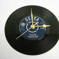 "The Rolling Stones - ""The Last Time""  Vinyl Record Wall Clock"