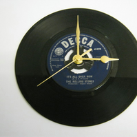 "The Rolling Stones - ""It's All Over Now""  Vinyl Record Wall Clock"