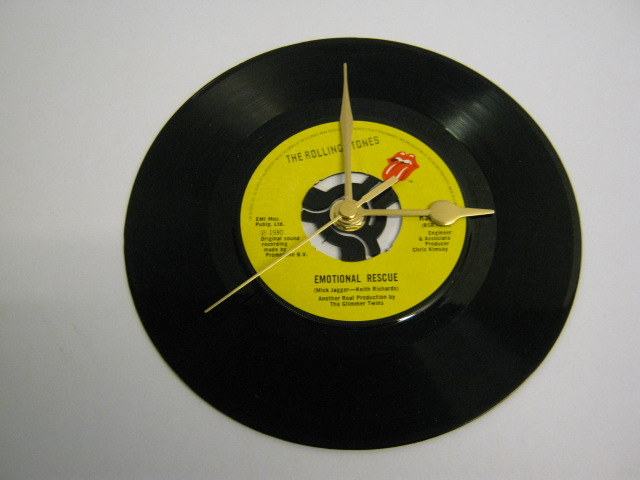 "The Rolling Stones - ""Emmotional Rescue""  Vinyl Record Wall Clock"